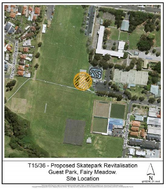 Guest Park Skate Park Location Map