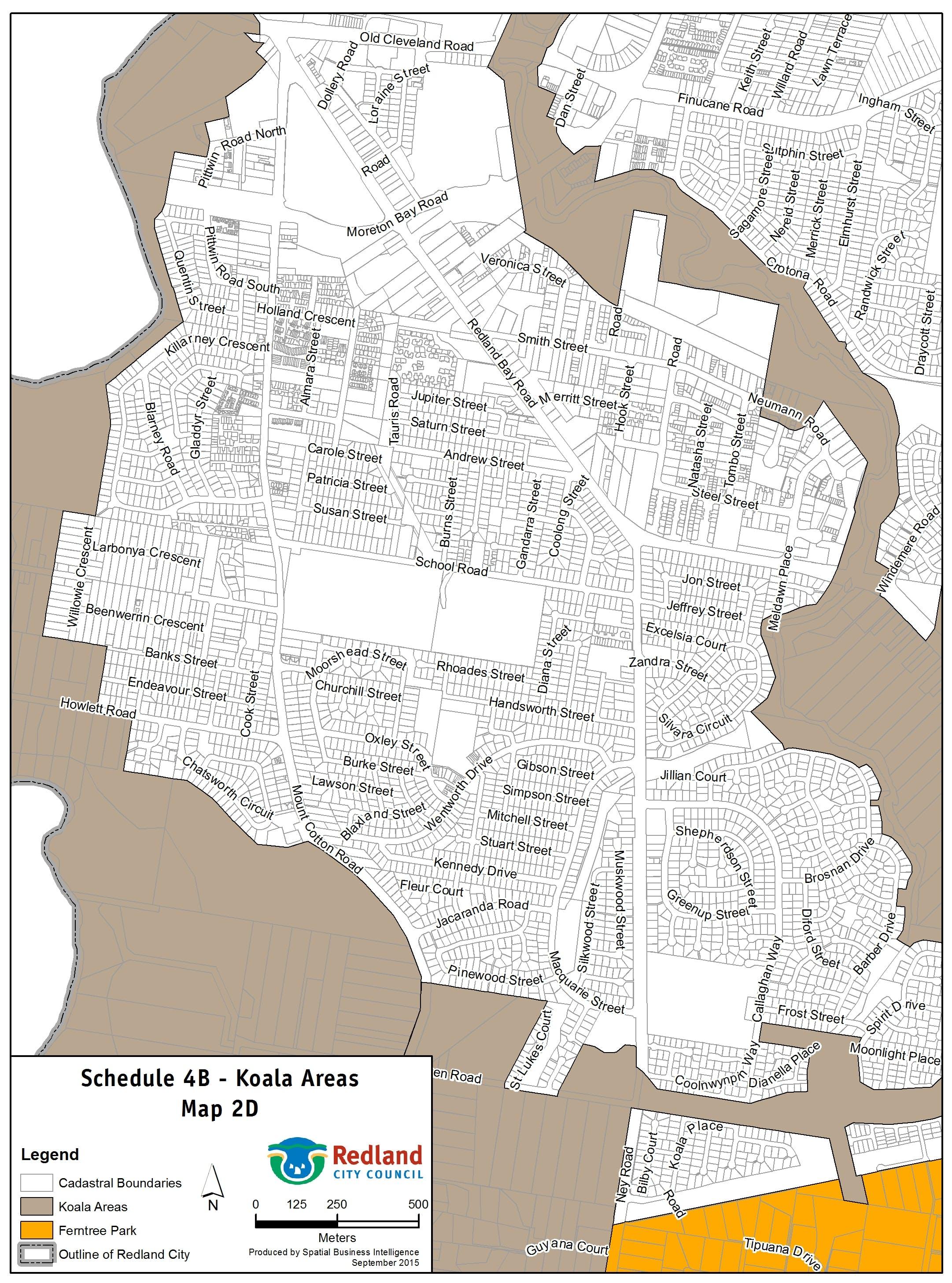 Koala Areas - Map 2 D