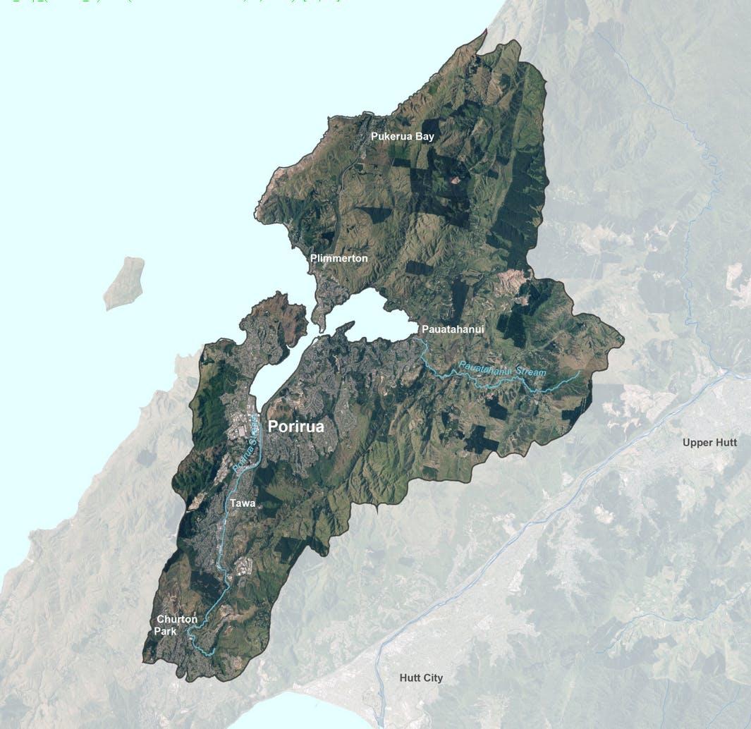Porirua Catchment Map