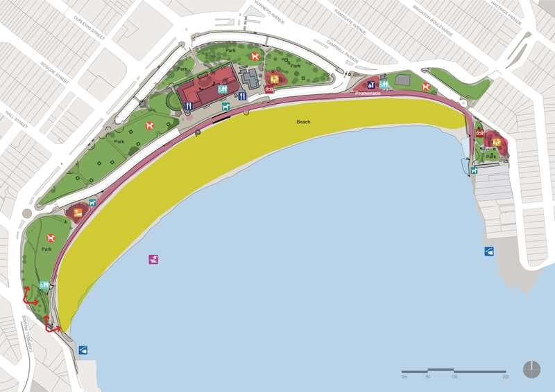 Location map of fitness area