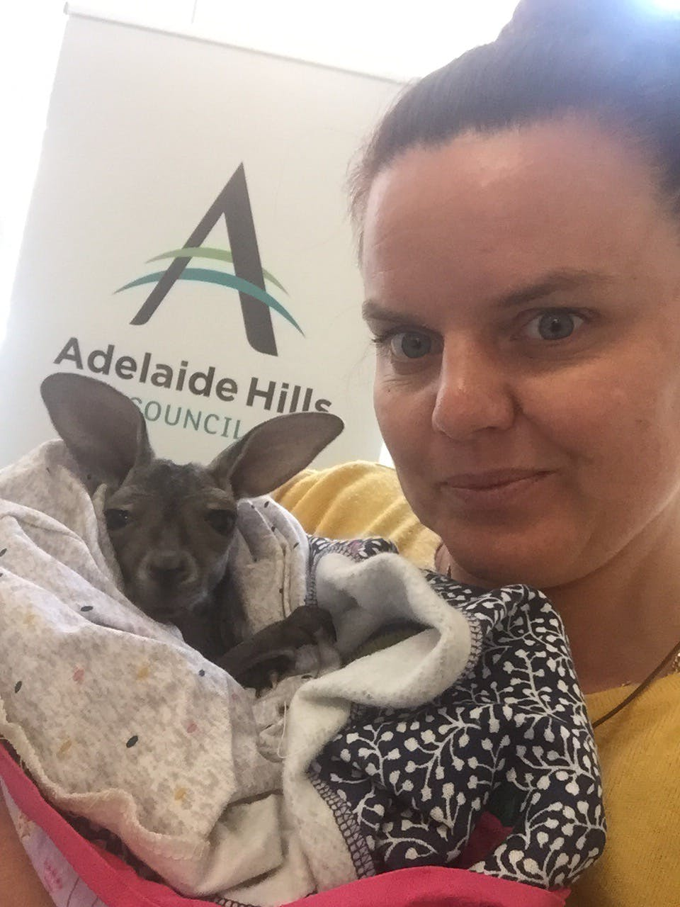 Dan The Joey Visiting the Recovery Centre