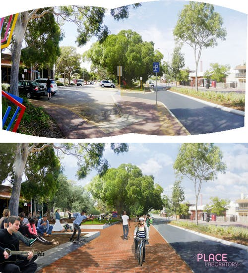 Axford Park Upgrade Concept Design - Before & After Perspective