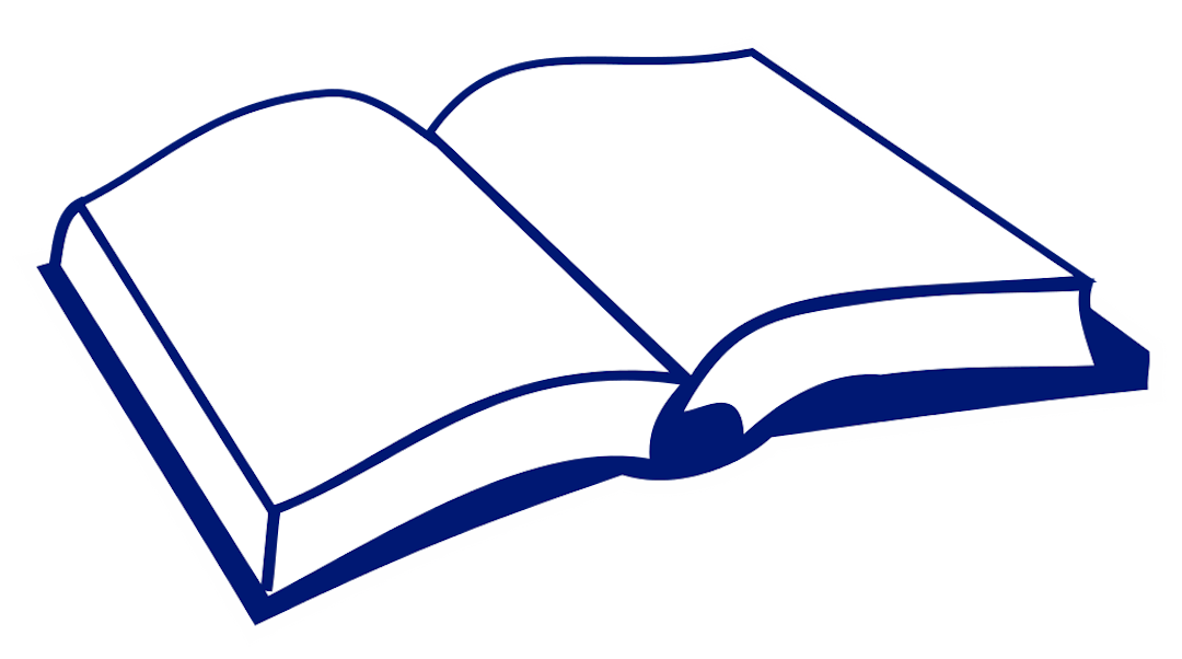 Basic clipart of open book