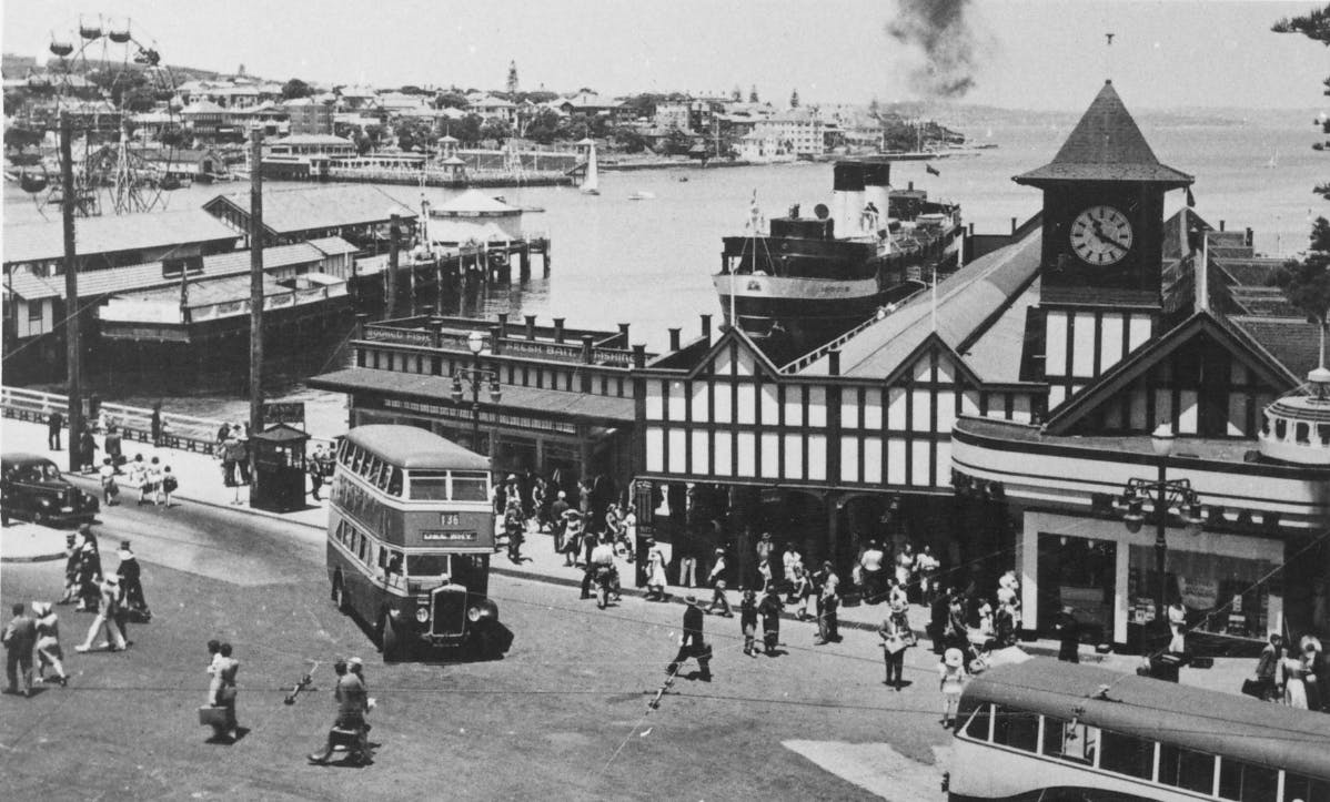 Manly wharf snipped