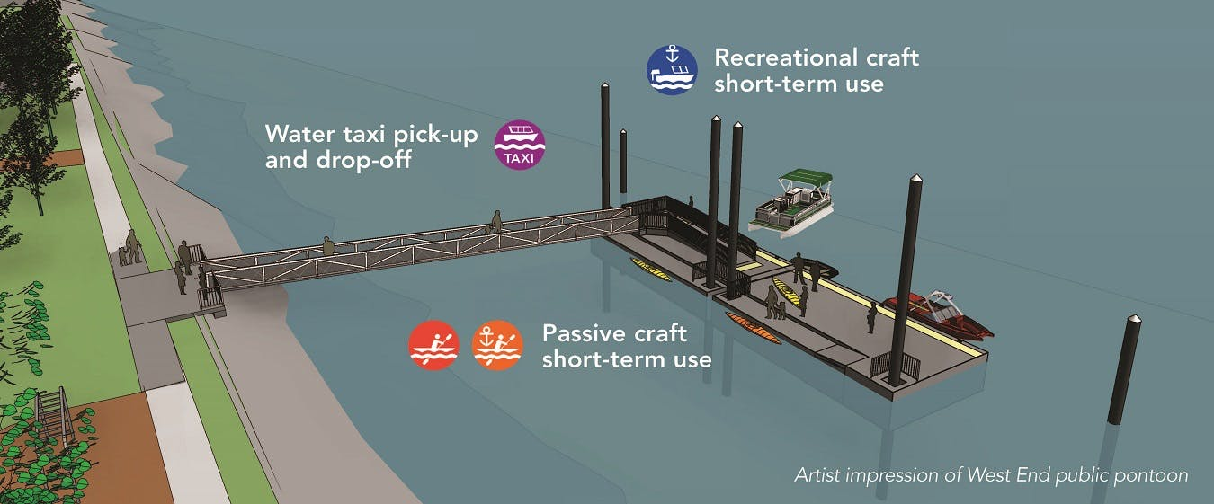 West End Pontoon Artist Impression
