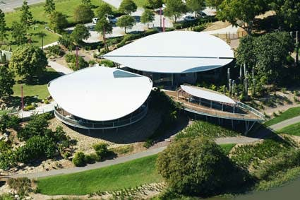 Visitors Centre Aerial View