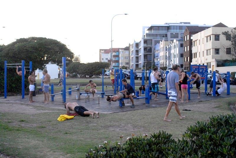 Bondi Park fitness area