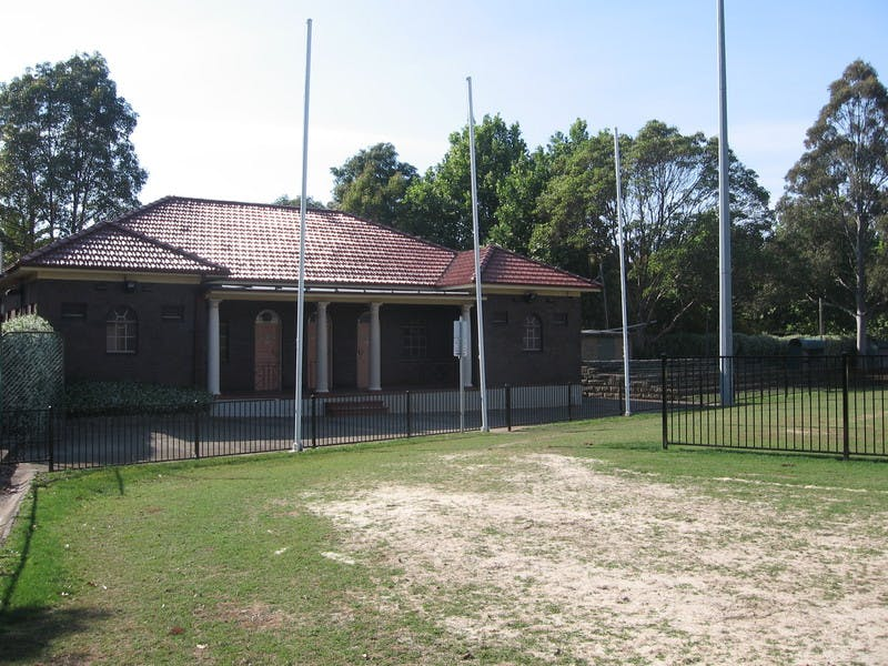 Players' Pavilion from field