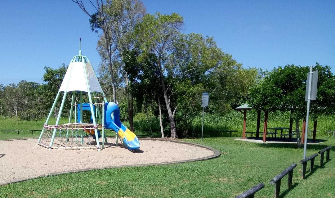 Play equipment at Brooksfield Drive Park
