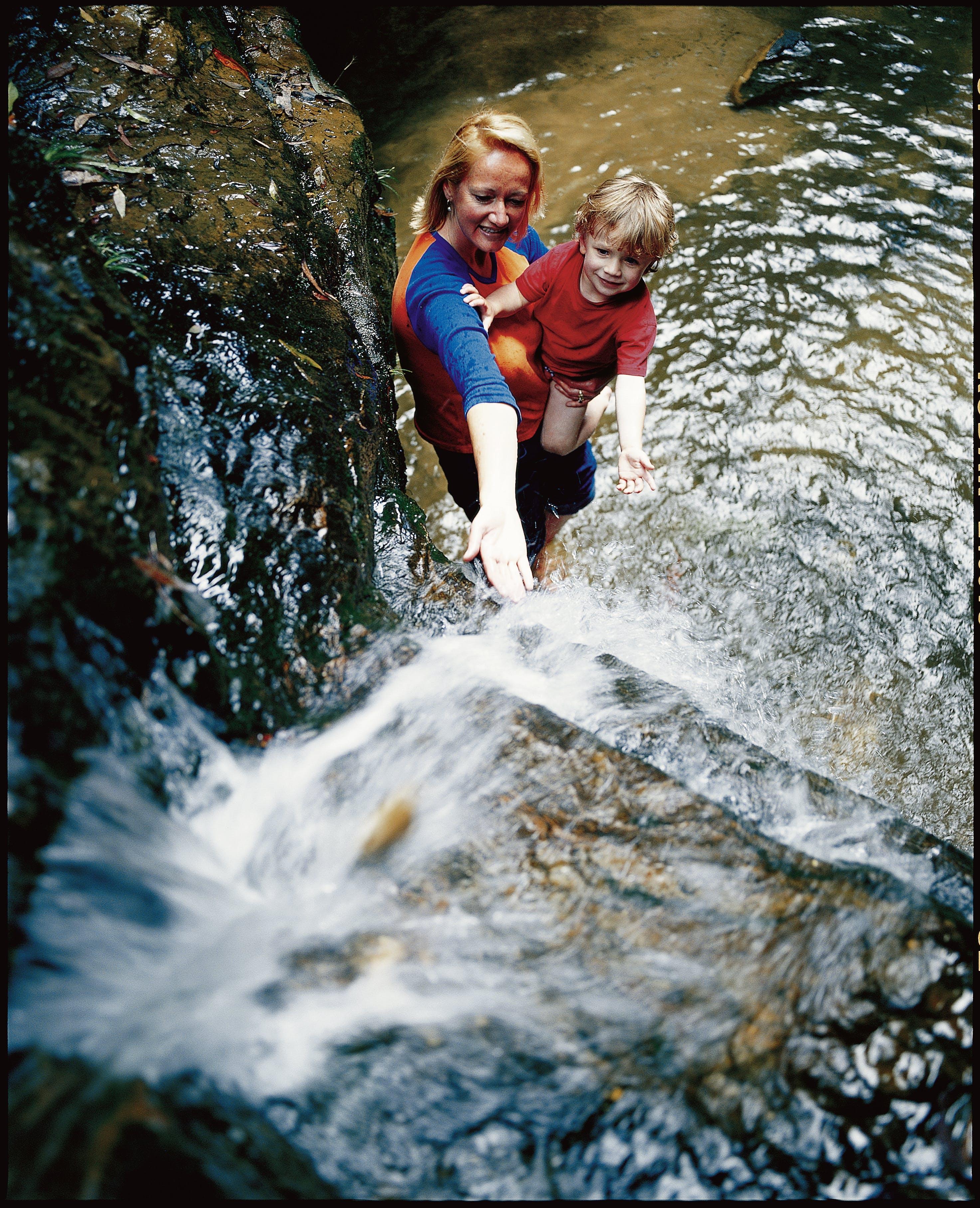 D_Terrace falls - mum_kid waterfall