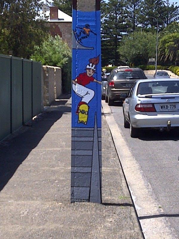 Just Add Water Stobie Pole Project, Stephanie Jucius, Artist & Coordinator, Create & Connect, 10 Hutchison Street, Goolwa