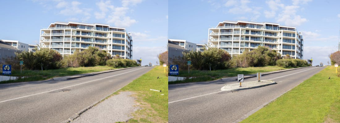 McCabe Street Before & After - Blister Island Example