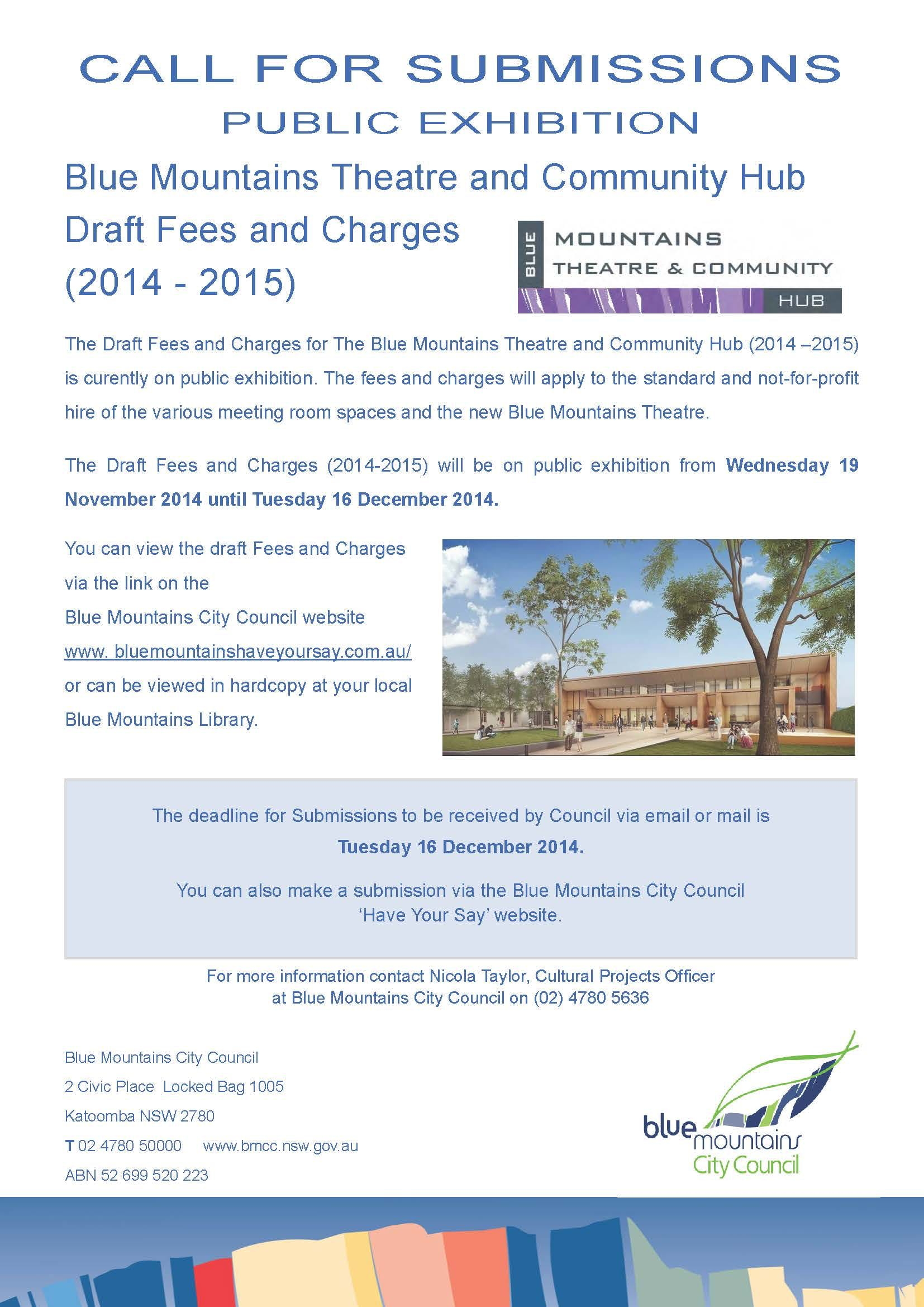 Fees And Charges Public Exhibition Poster1