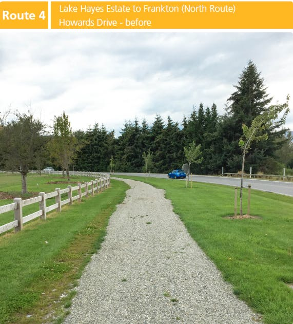 Route 4: Lake Hayes Estate to Frankton (North Route) Howards Drive - BEFORE