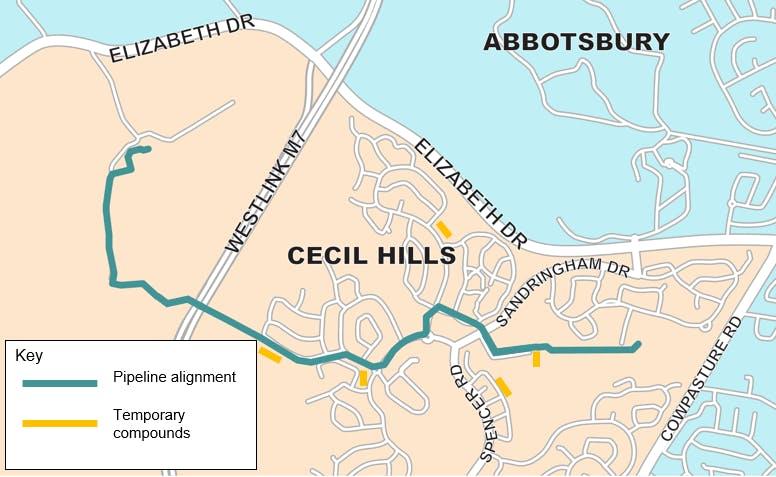 Cecil Hills - pipeline alignment