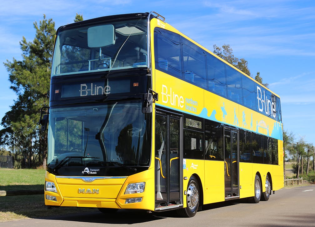 One of the new B-Line buses