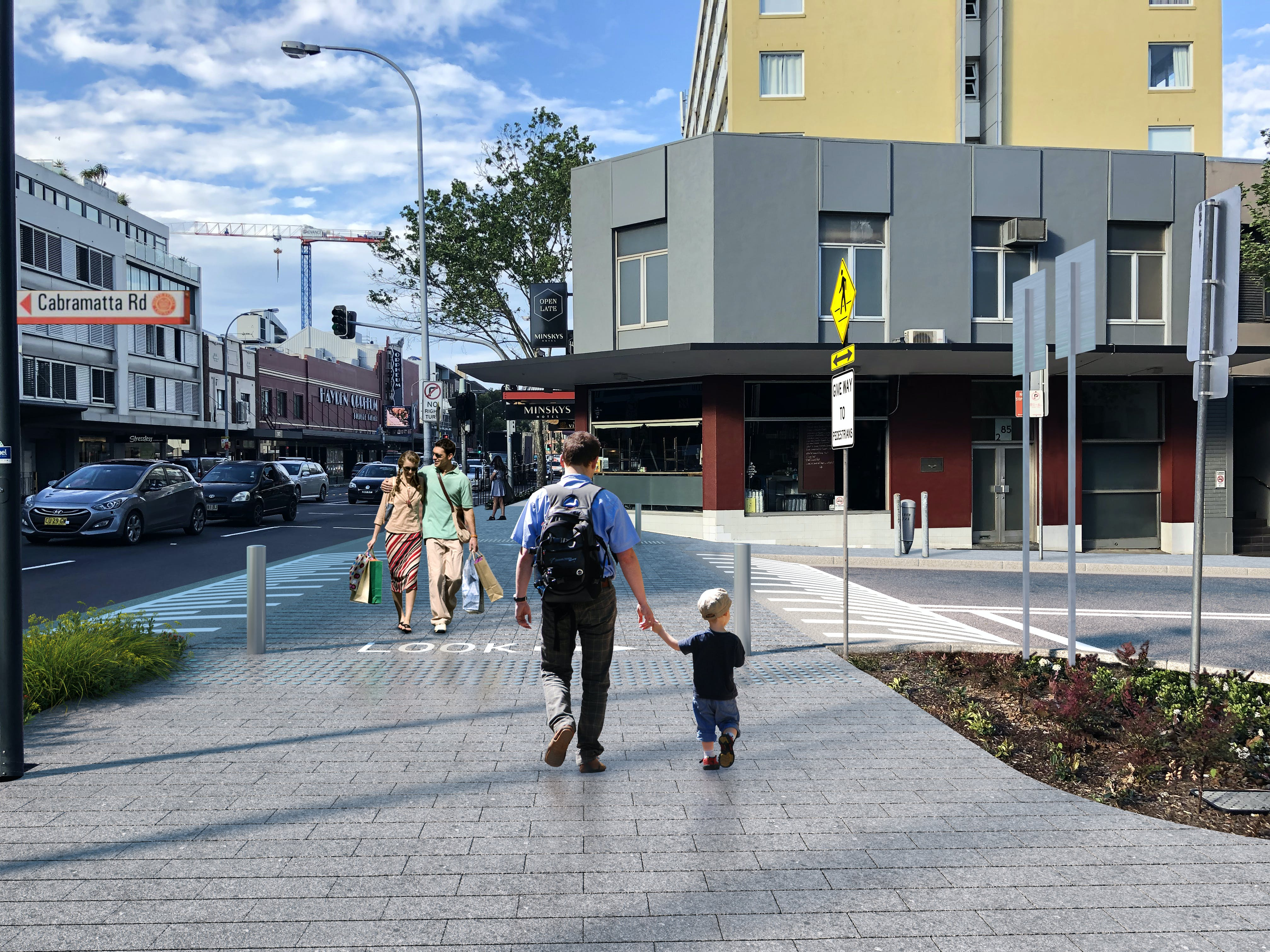 Cabramatta Road Option A - Photomontage, Street Level