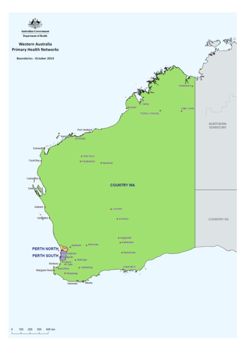 Three PHNs in Western Australia