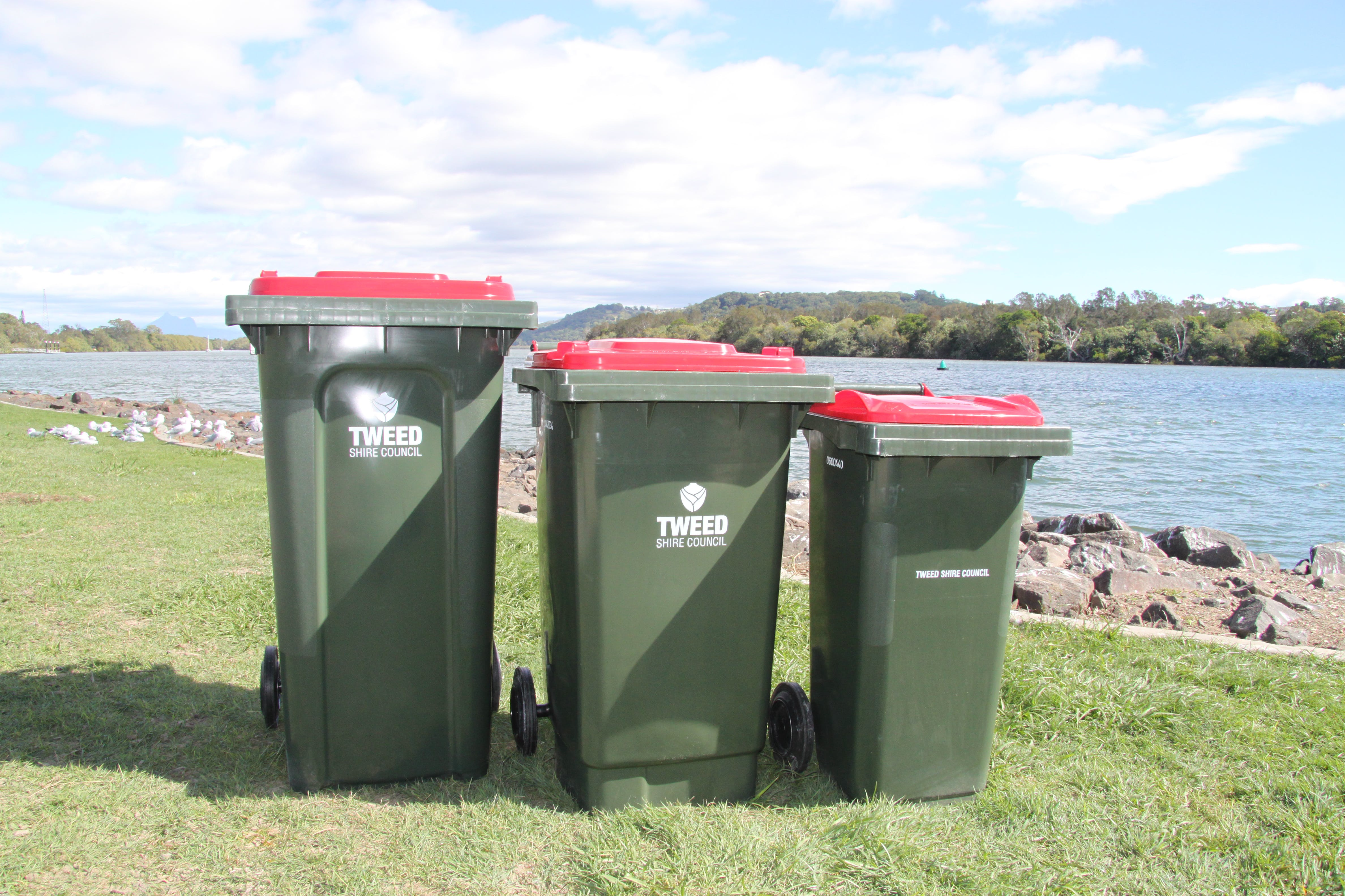 Less to landfill - bin size options