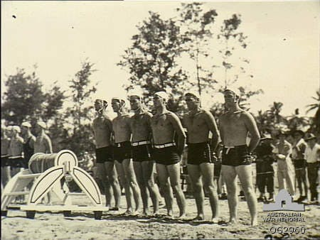 New Guinea 1945. RAAF and Army surf carnival