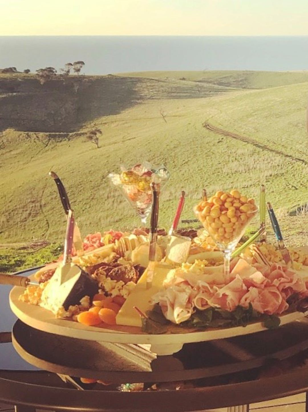 Platter and view