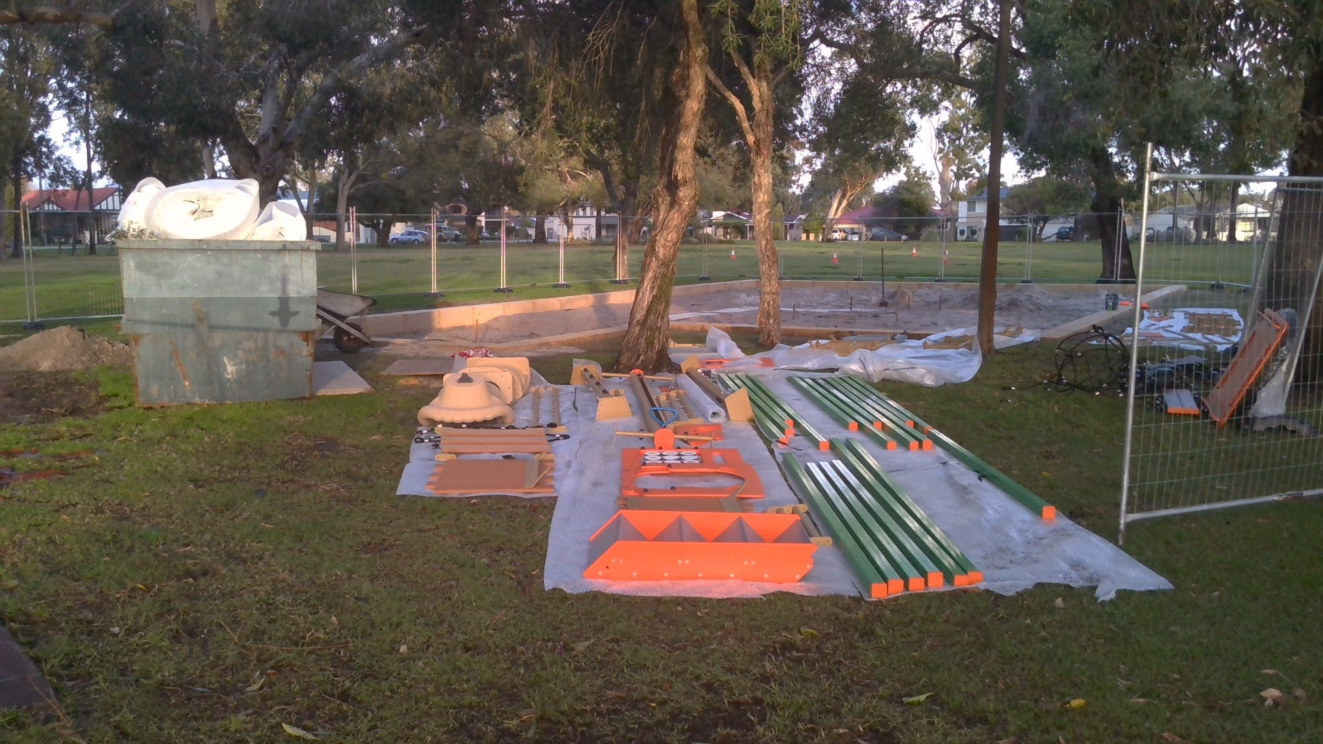 Montes Playground construction 1