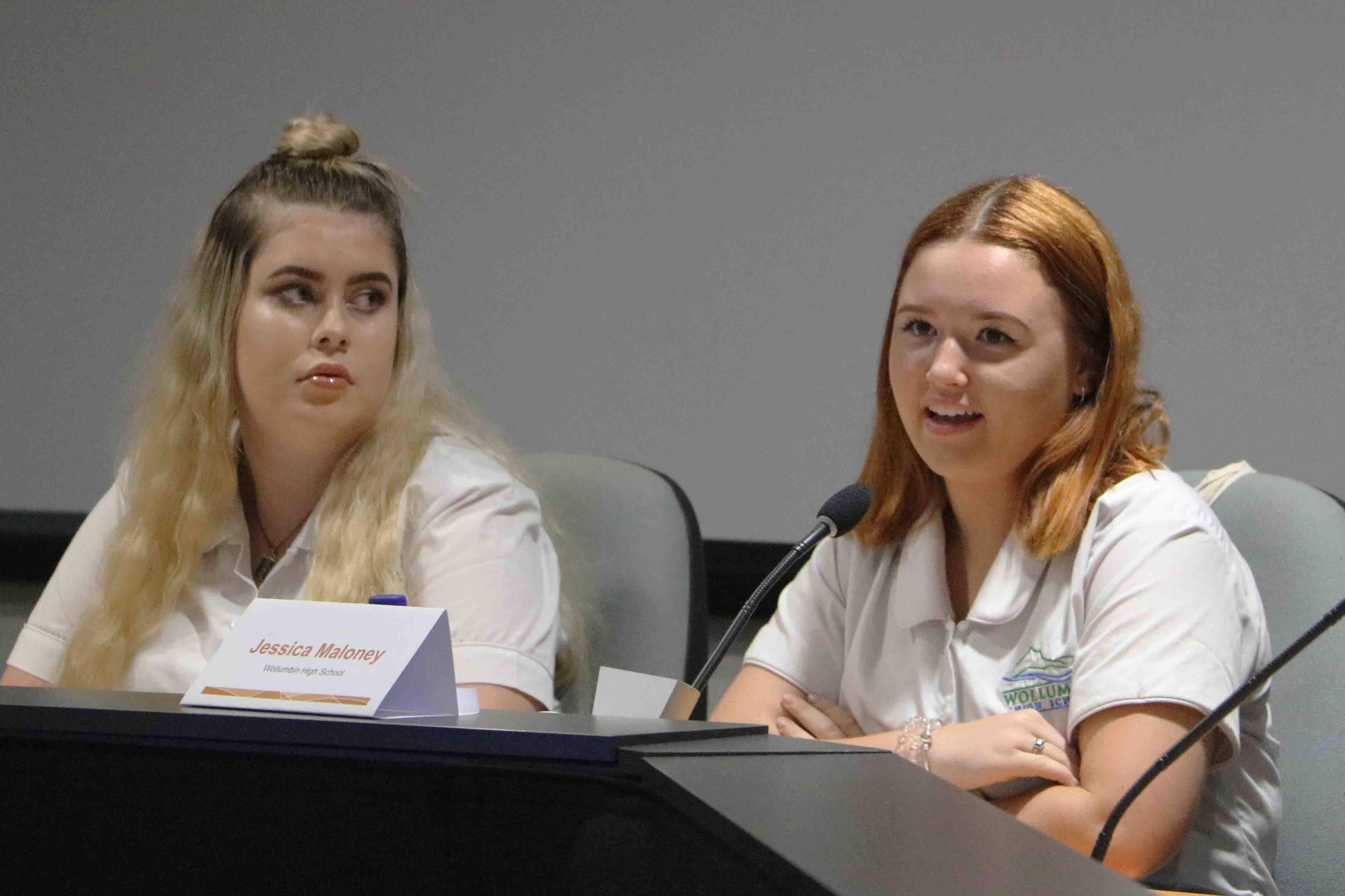 Hannah Carmody and Jessica Maloney