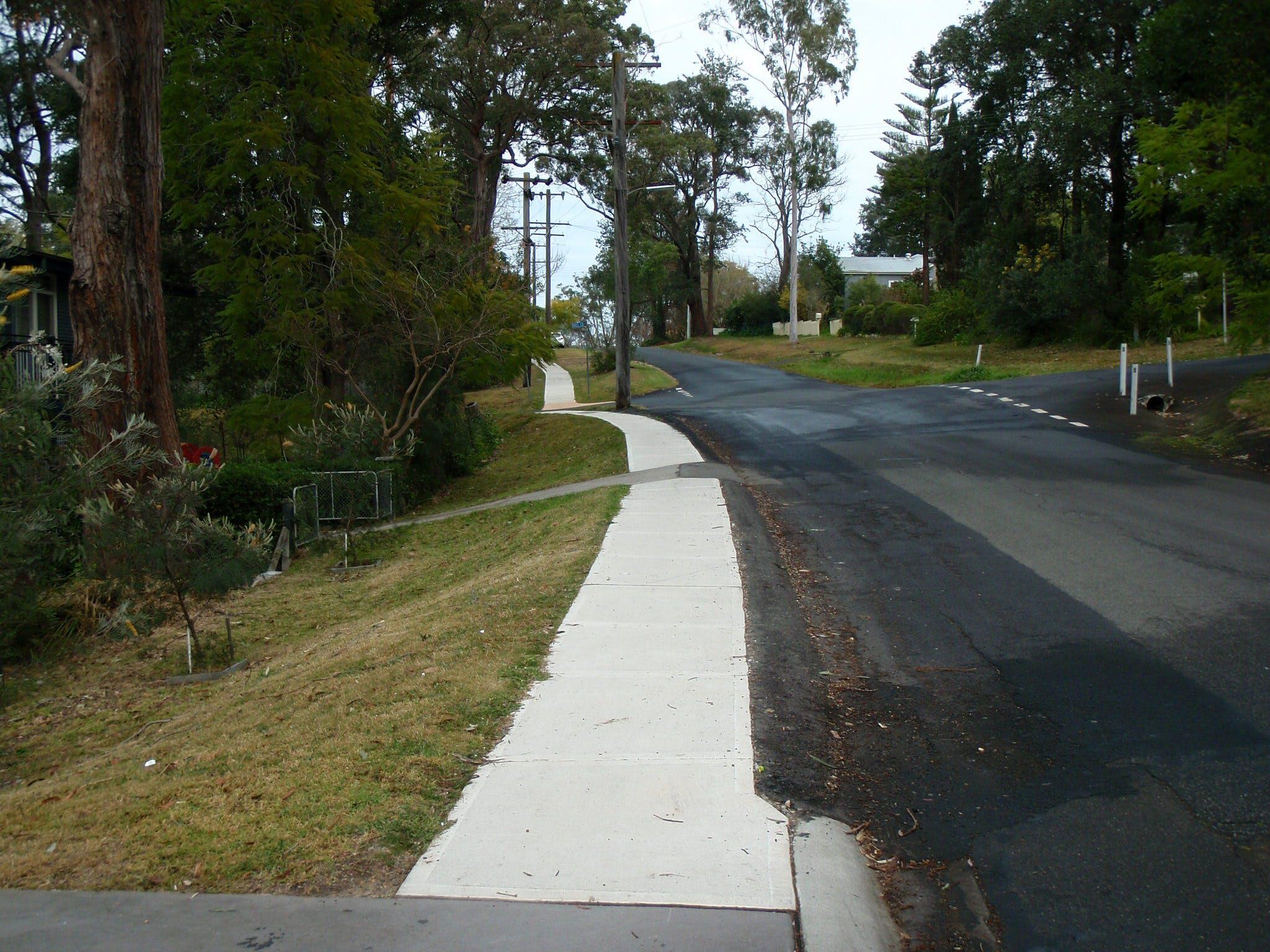 New footpath at Taringha Street, Blaxland