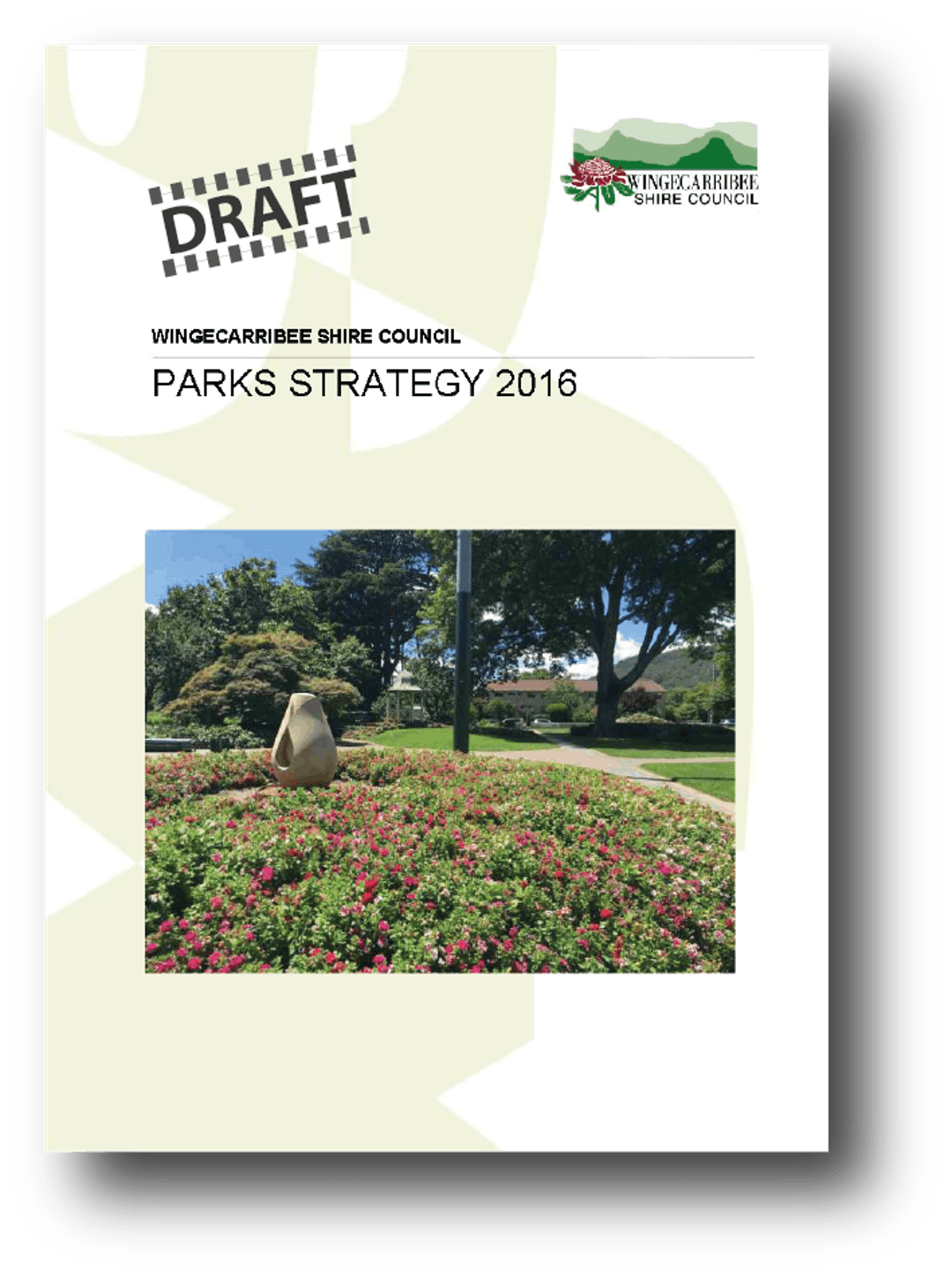 Cover of draft Parks Strategy 2016
