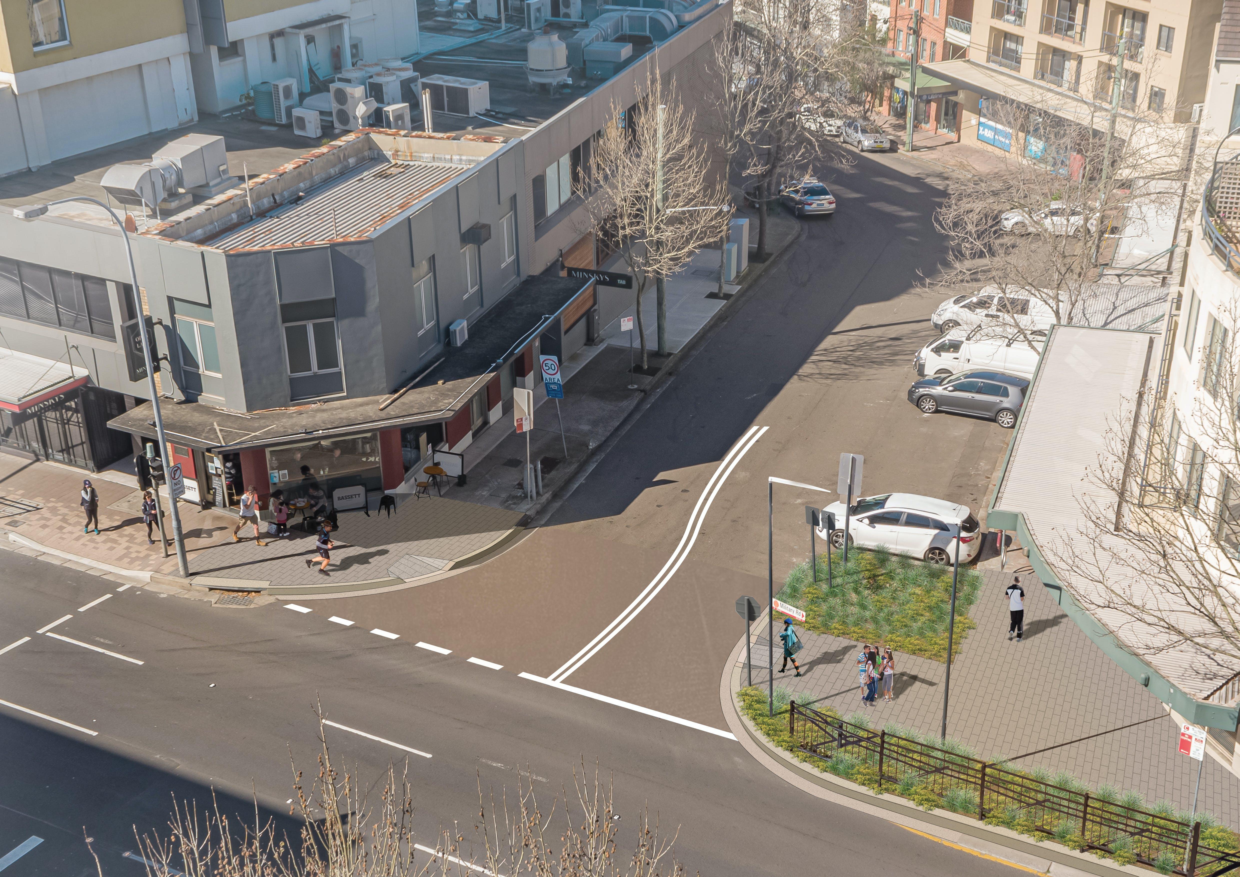 Cabramatta Road Option B - Photomontage, Elevated Level