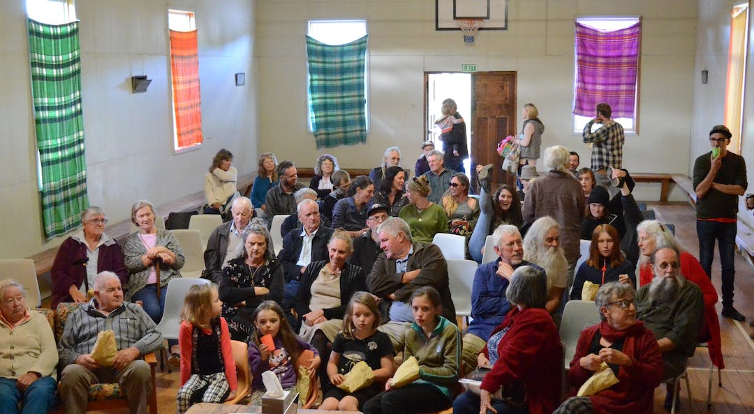 Residents of  the Errinundra to Snowy district at the launch of the Red Sunday Documentary in 2014
