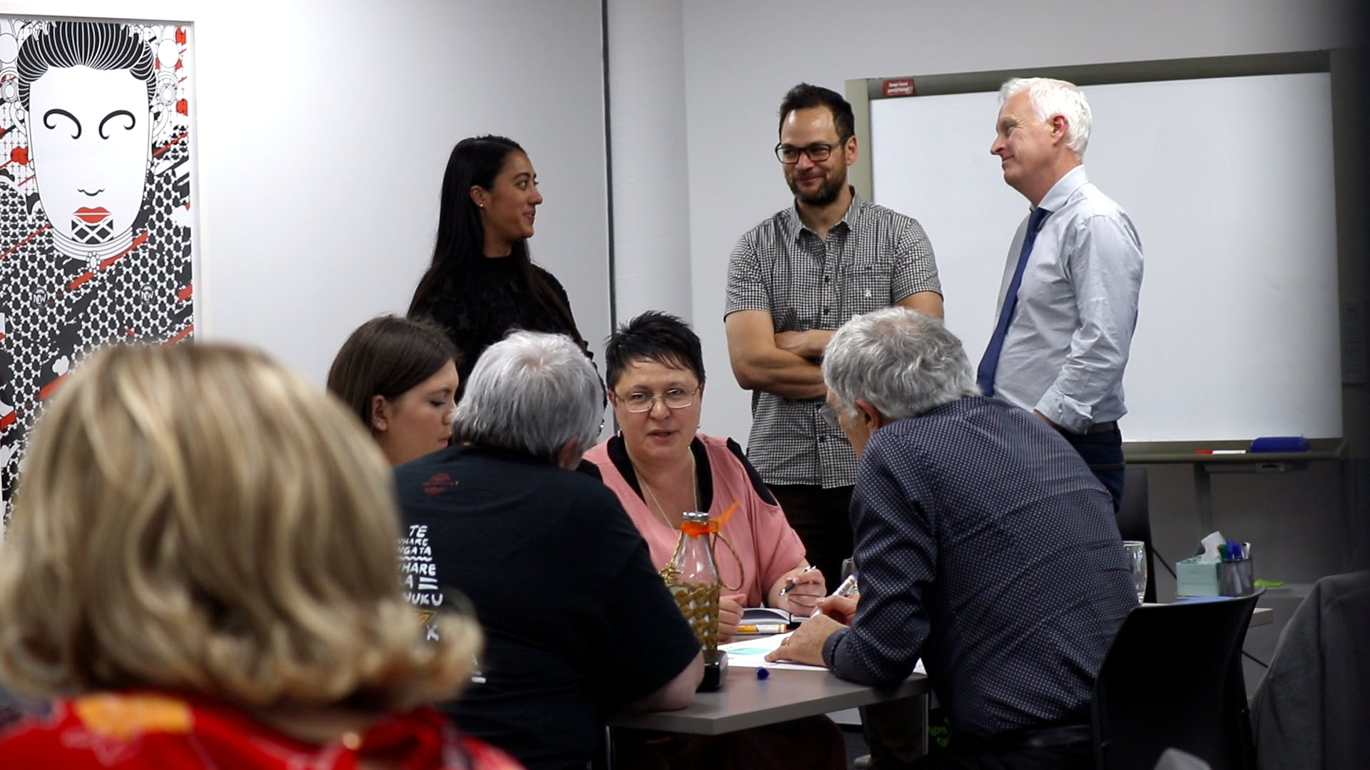 Our working group having a kōrero