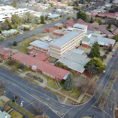 Hospital Site North East Perspectve