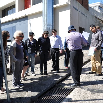 The jury took part in a walking tour