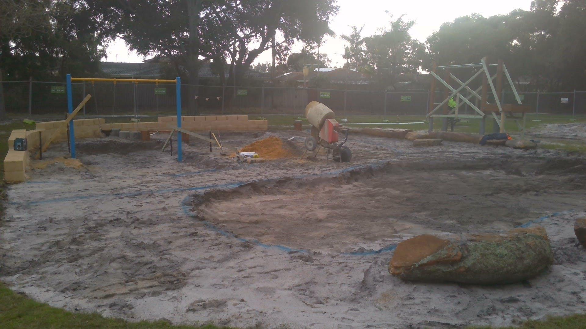 Kennon Park playground construction 6