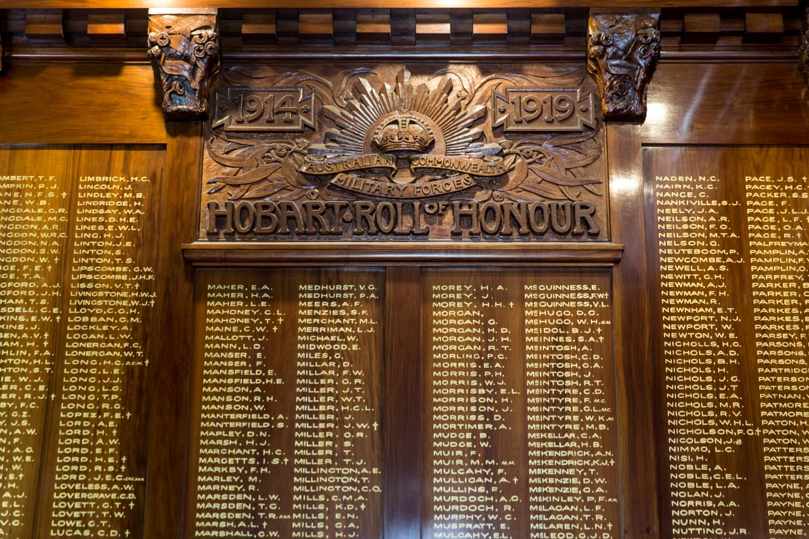 Town Hall  - Hobart Roll of Honour