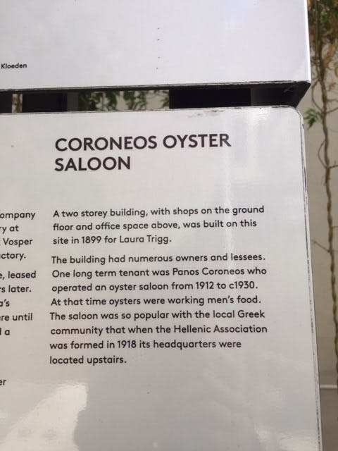 Royal Oyster Palace Plaque Content