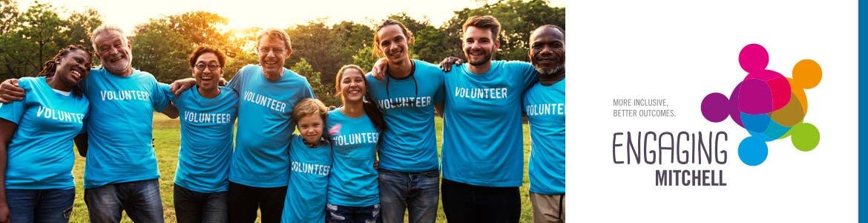 Volunteers header engaging mitchell