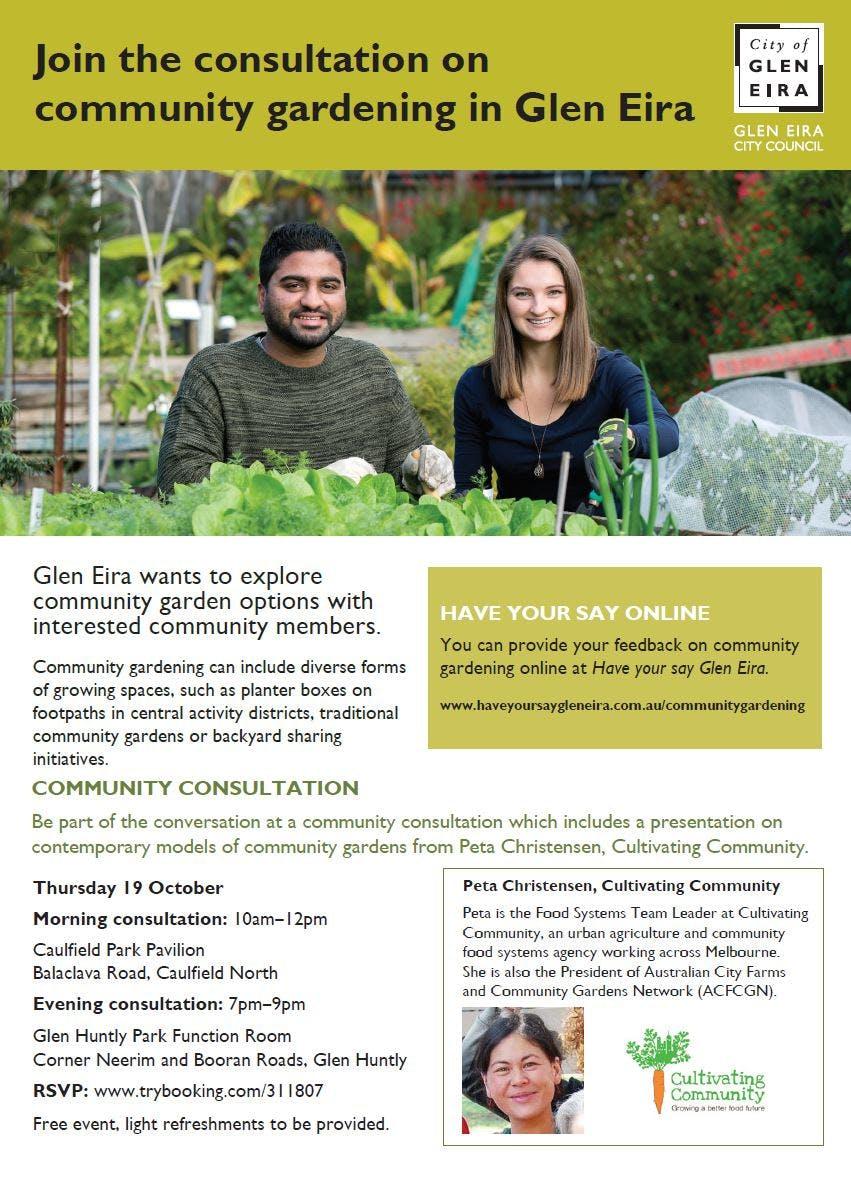 Community gardening flyer