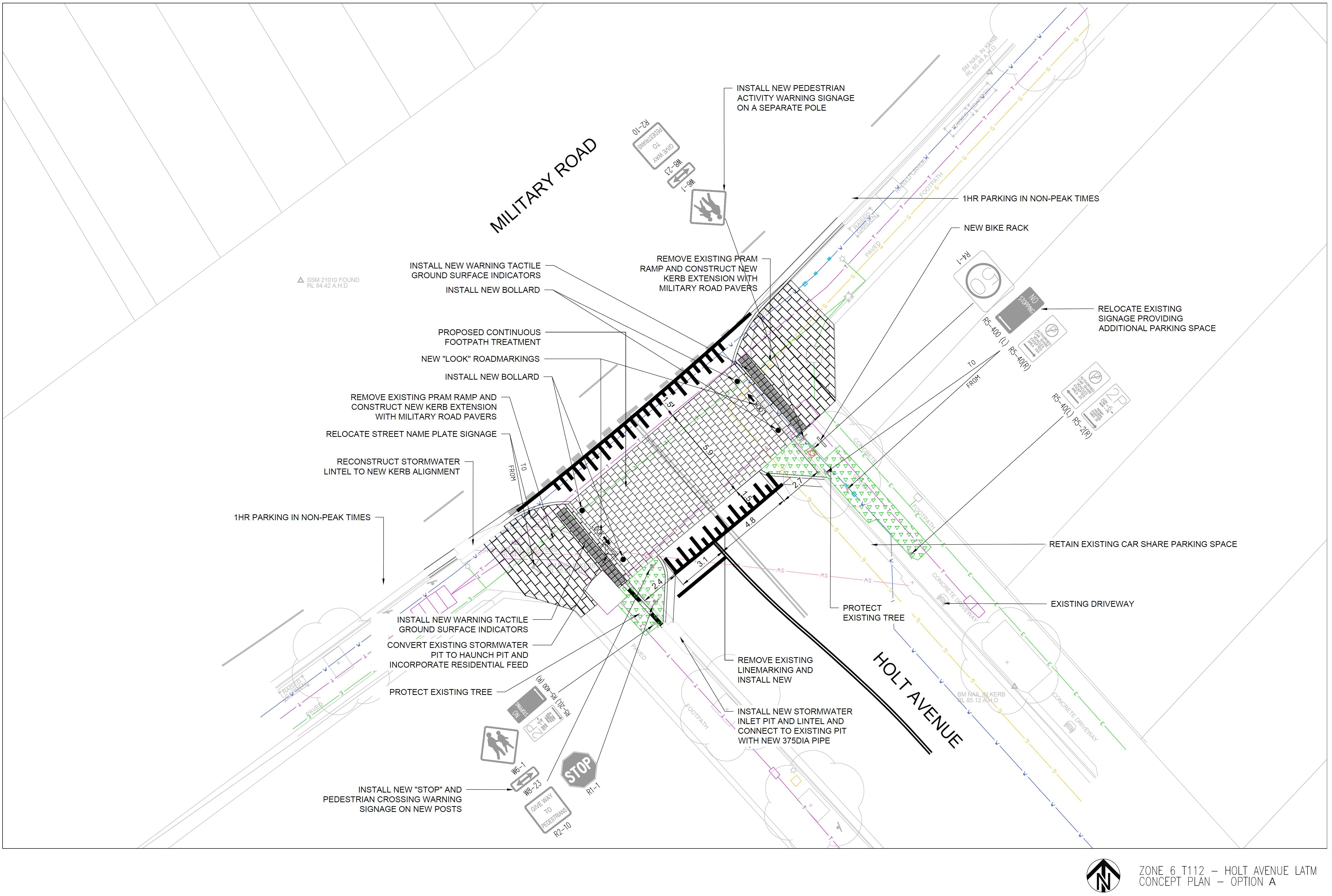 Holt Ave Option A - 2D Design