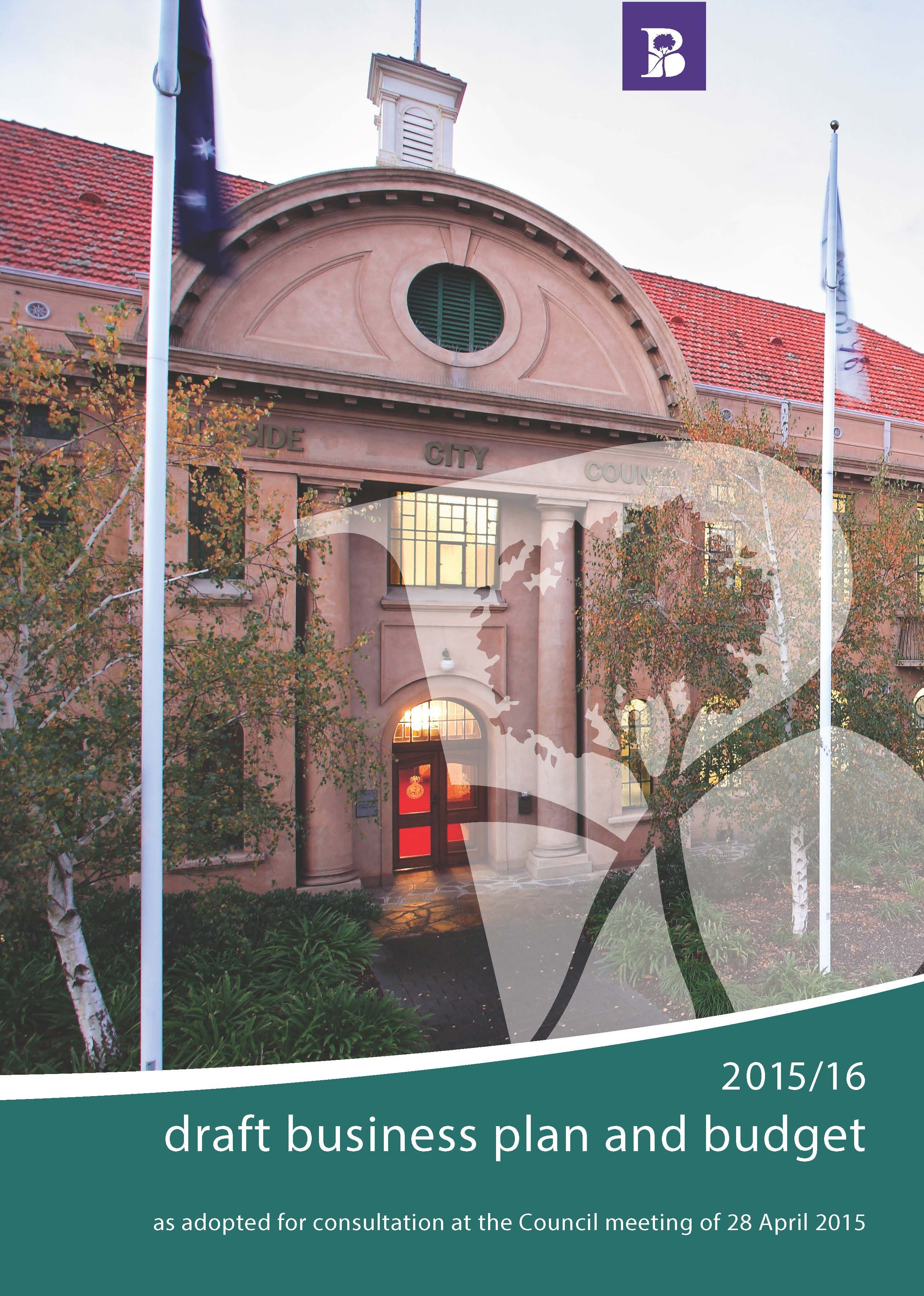 Cover 2015/16 Draft Business Plan and Budget