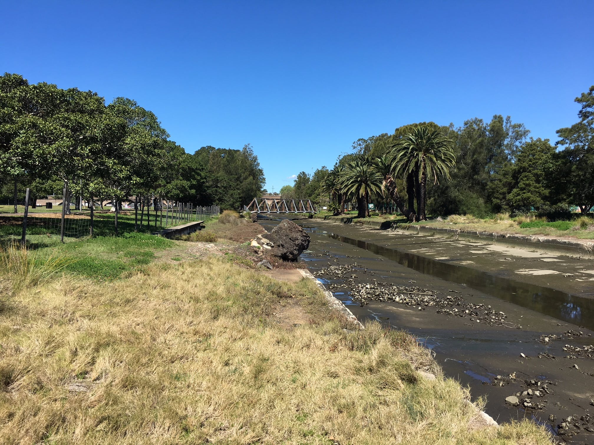 Johnstons Creek in its current condition