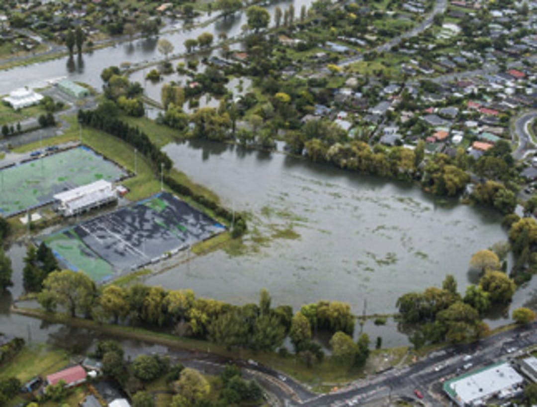 Porritt Park in flood (1 in 100-year event), March 2014