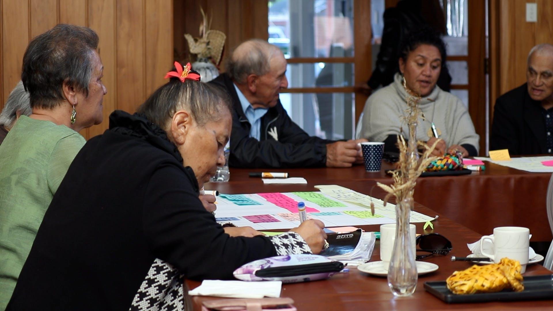 Writing up whakaaro onto post-its