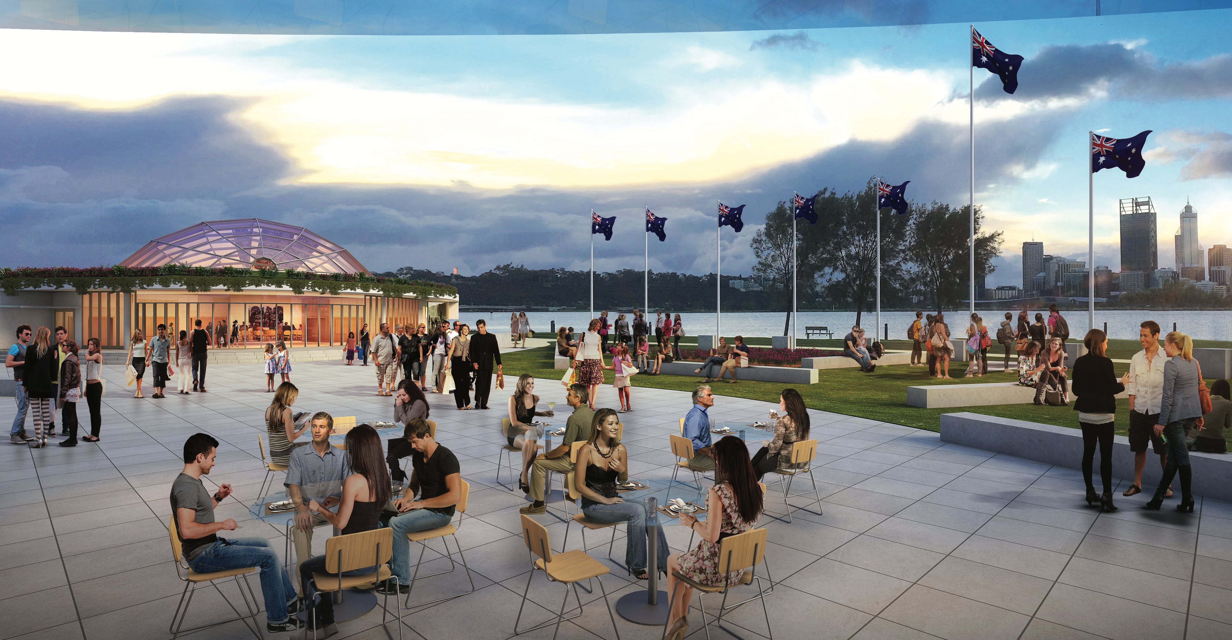 Westralian Centre outdoor space concept design