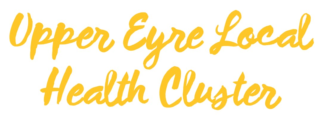 Upper Eyre Peninsula in yellow linked script