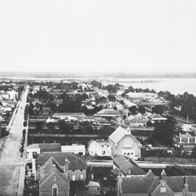Hay Street East from Town Hall Tower - 1870's - 1880's