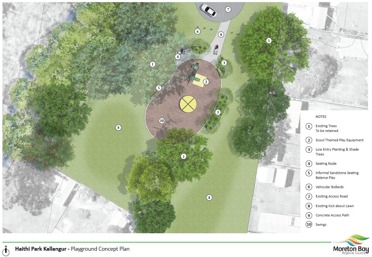 Haithi Park, Kallangur - Playground Concept Plan