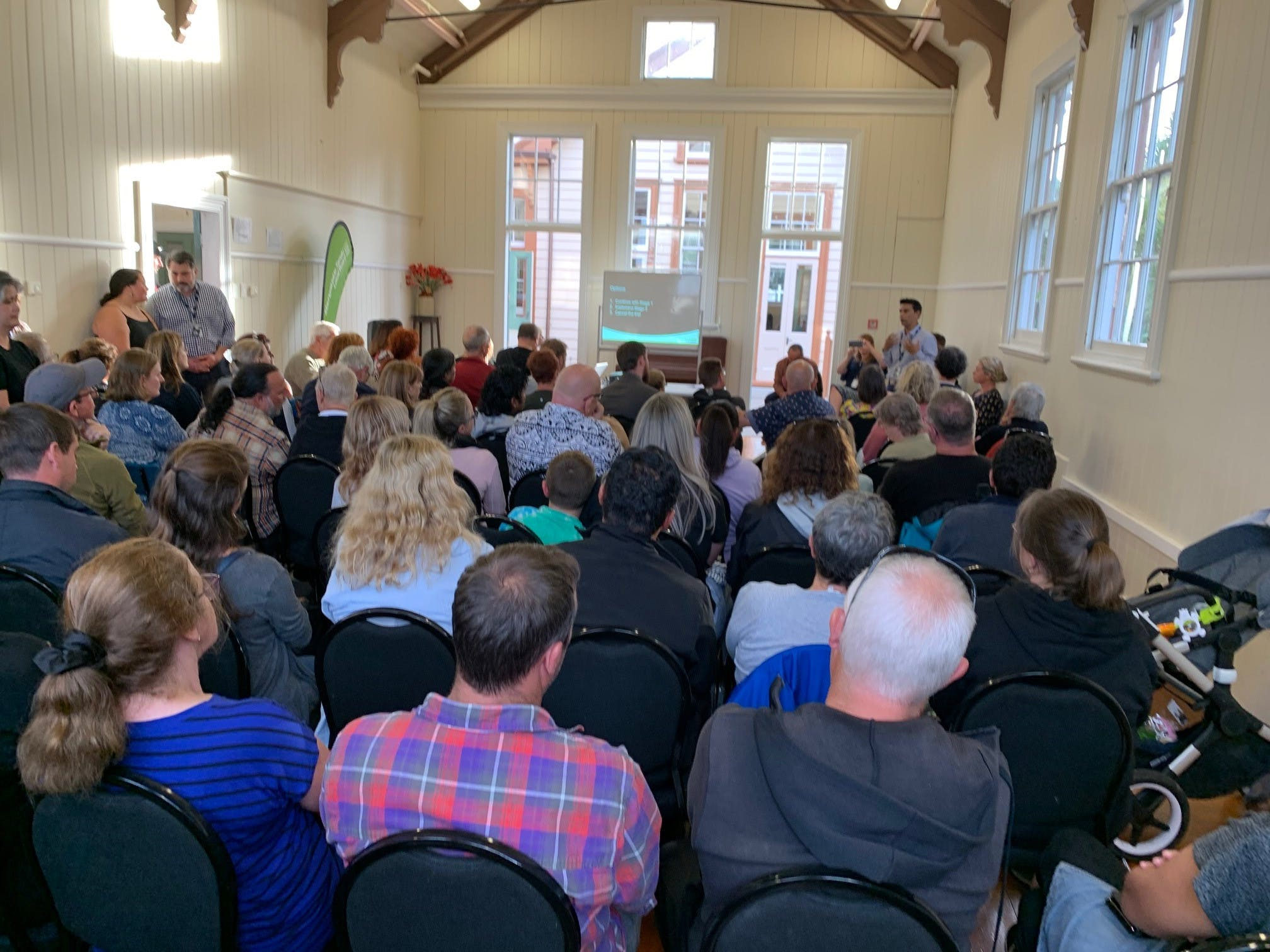 Community members gathered at community forum for Arthur Grey Low Traffic Area project