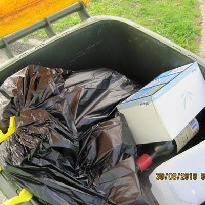 mixing recyclables with general rubbish means more waste to landfill
